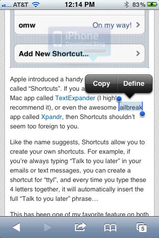 Define no iPhone com iOS 5