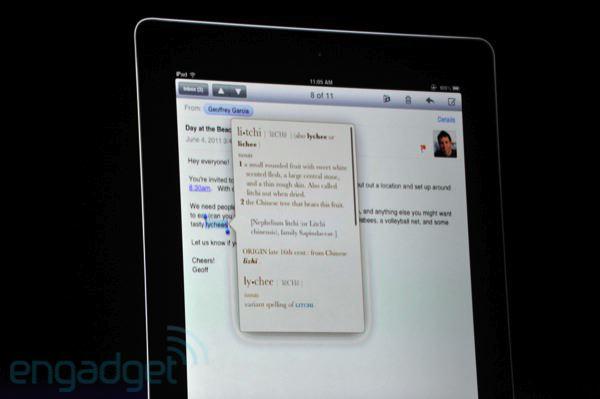 Definição de palavras no iPad com iOS 5