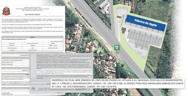 Detalhes sobre fábrica da Foxconn em Jundiaí