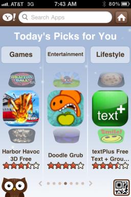 Yahoo! AppSpot - iPhone
