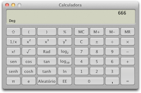 Calculadora do OS X Lion