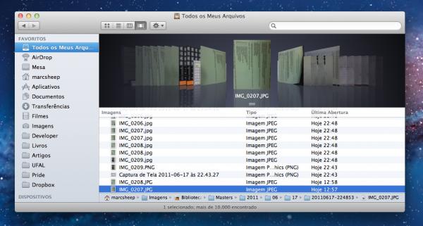 Finder no OS X Lion