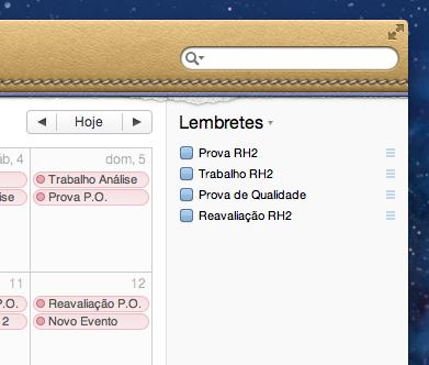 Lembretes (Reminders) no iCal do OS X Lion