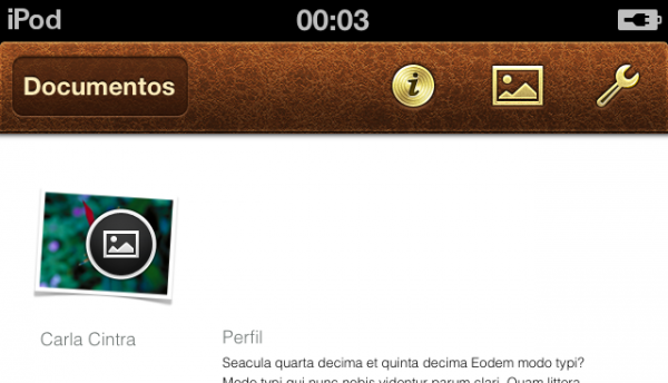 Pages no iOS (iPod touch)
