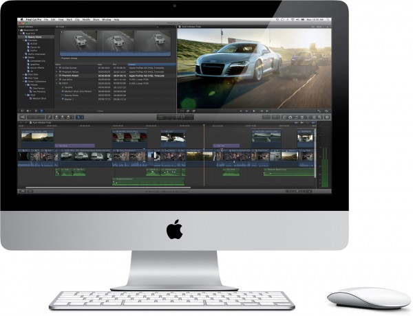 Final Cut Pro X num iMac