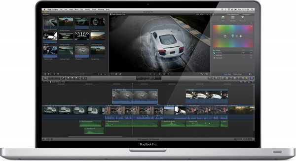 Final Cut Pro X num MacBook Pro