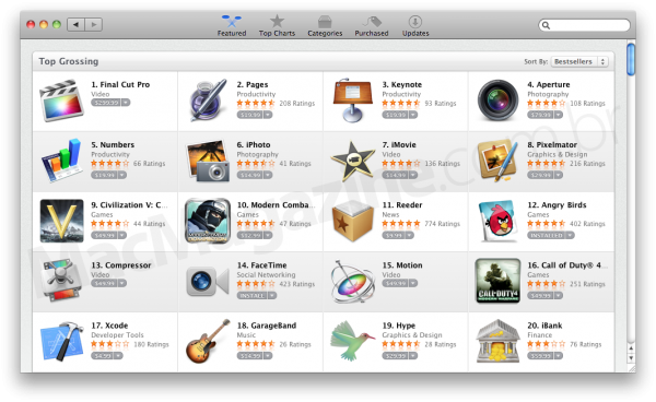 Top Grossing da Mac App Store - Final Cut Pro X