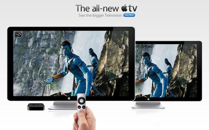 Mockup de televisão da Apple
