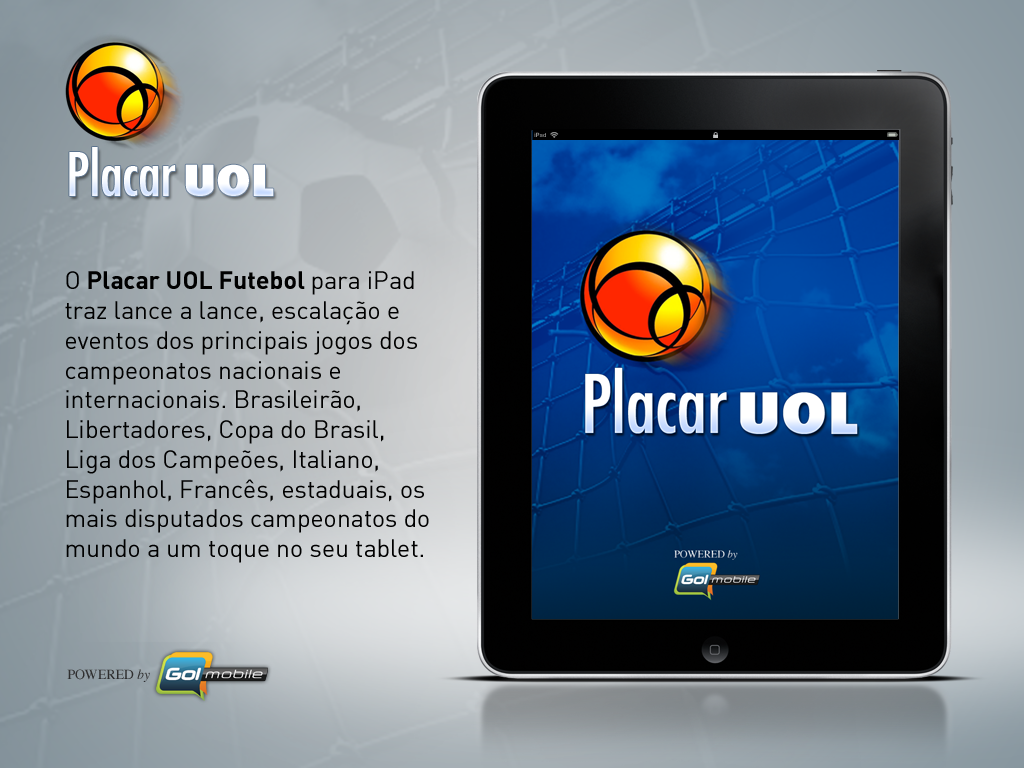 Placar UOL Futebol no iPad