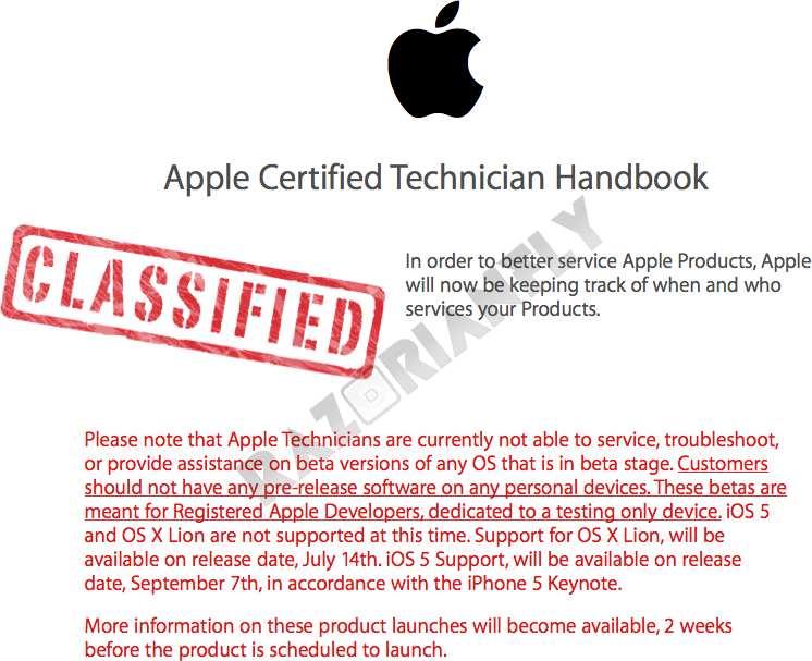 Lançamentos do OS X Lion e do iOS 5