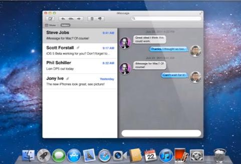 Conceito - iMessage no Mac