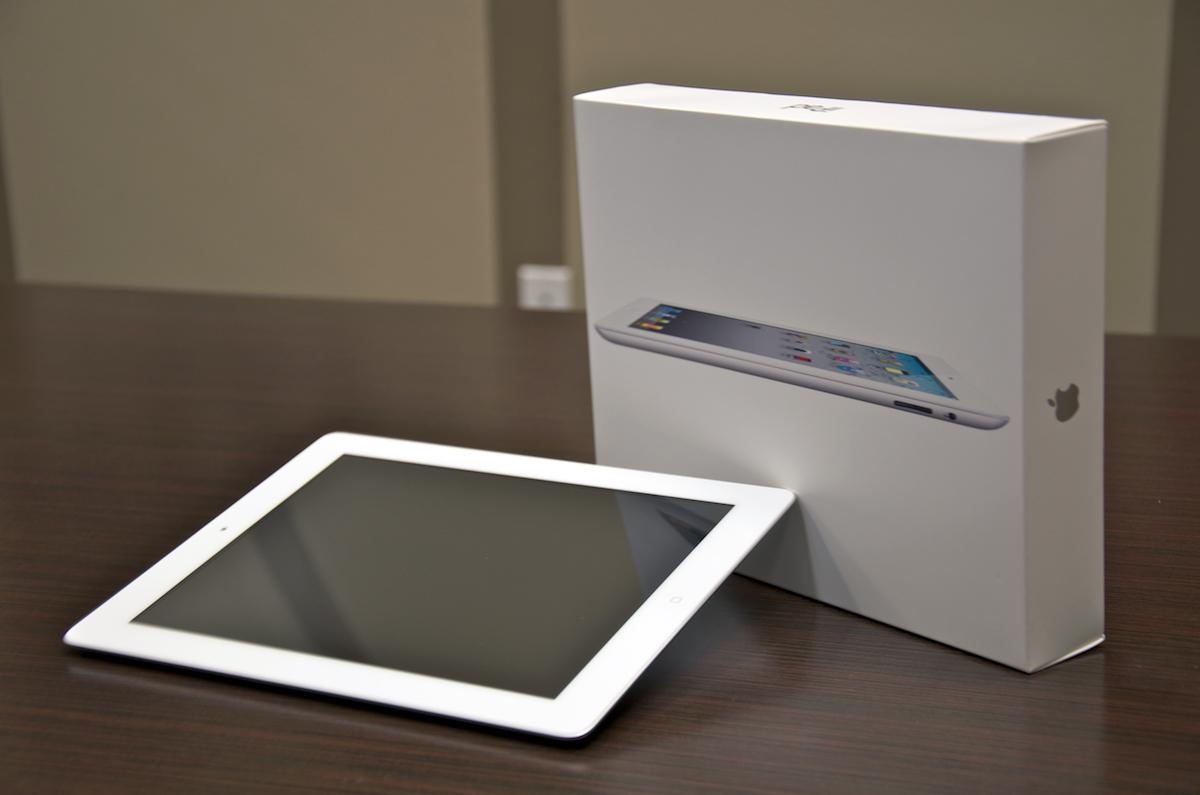 Caixa de um iPad 2 branco