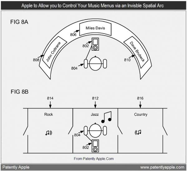 Patente de menus em arco sonoro