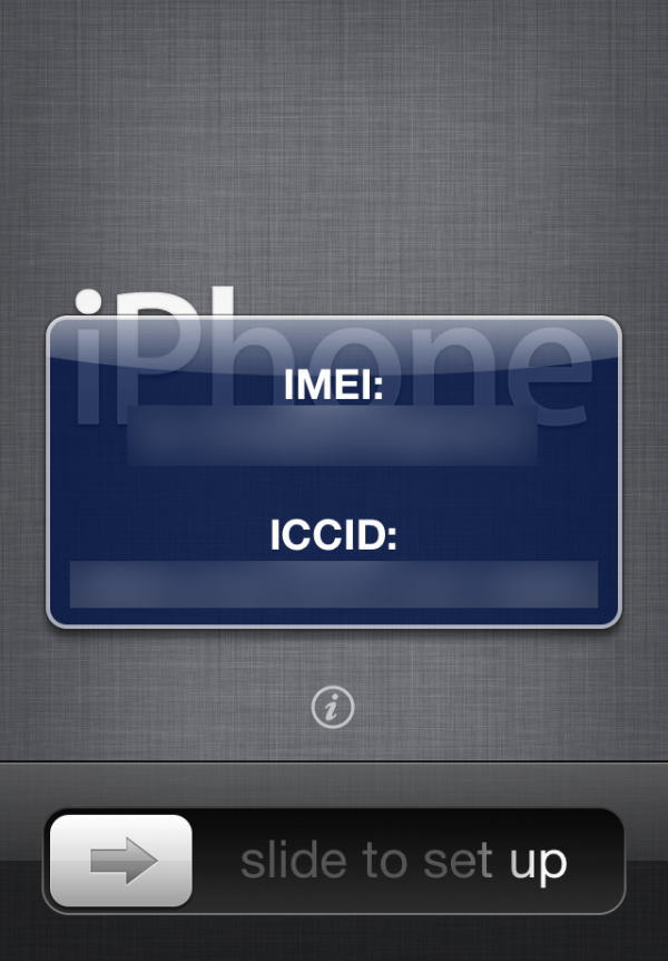 IMEI no iOS 5 beta 2