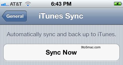 iOS 5 beta com Wi-Fi syncing