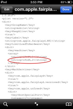 iPod touch 4.2 no iOS 5