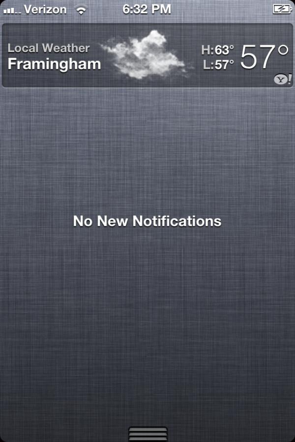 Central de Notificações no iOS 5 beta 2