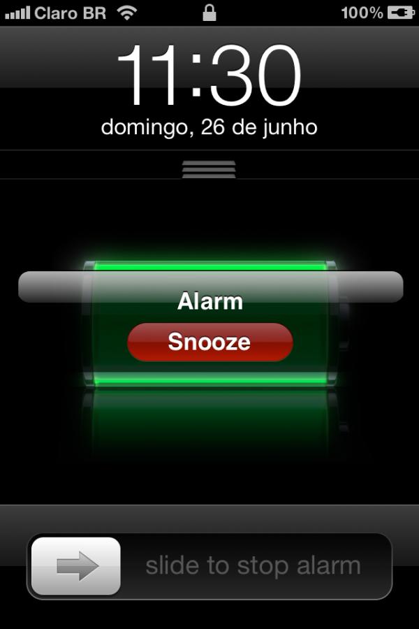 Snooze do iOS 5 beta 2