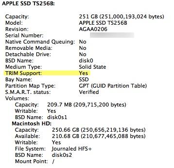 Suporte a TRIM no Mac OS X 10.6.8
