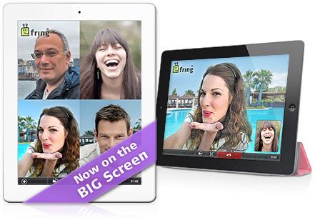 Vídeo-chamadas do fring em iPads