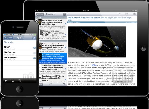 Simple RSS+ - iPhone e iPad