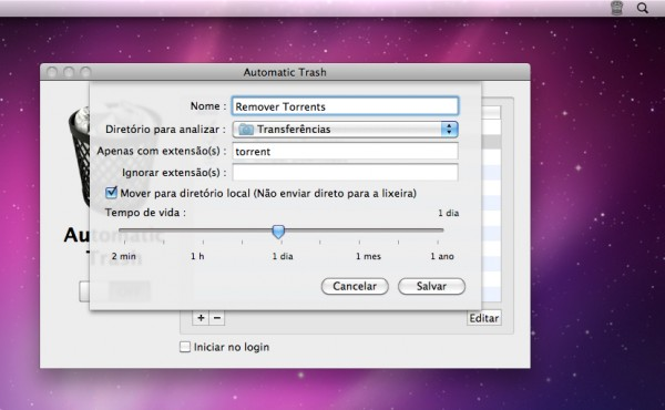 Automatic Trash - Mac OS X