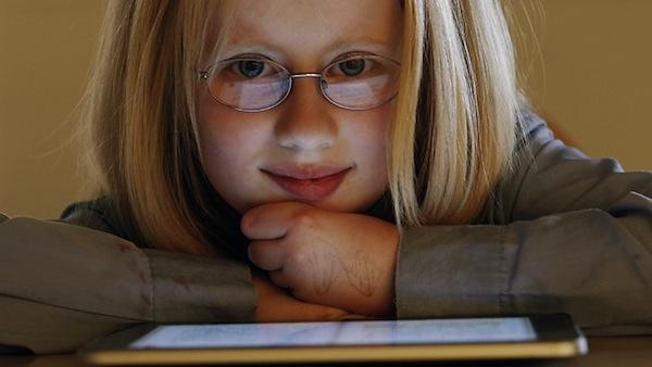 Holly Bligh e seu iPad