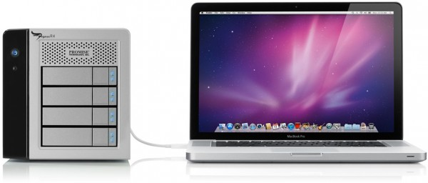 RAID Thunderbolt da Promise com MacBook Pro