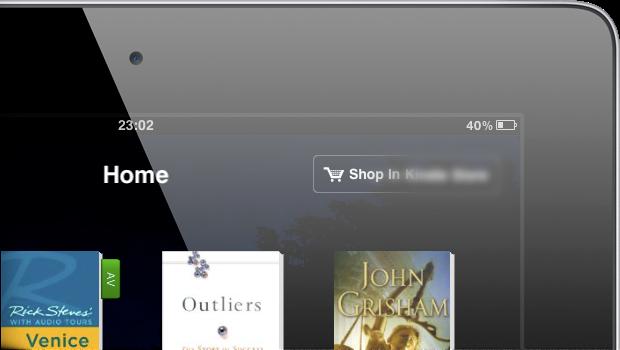 O fim do link para a Kindle Store