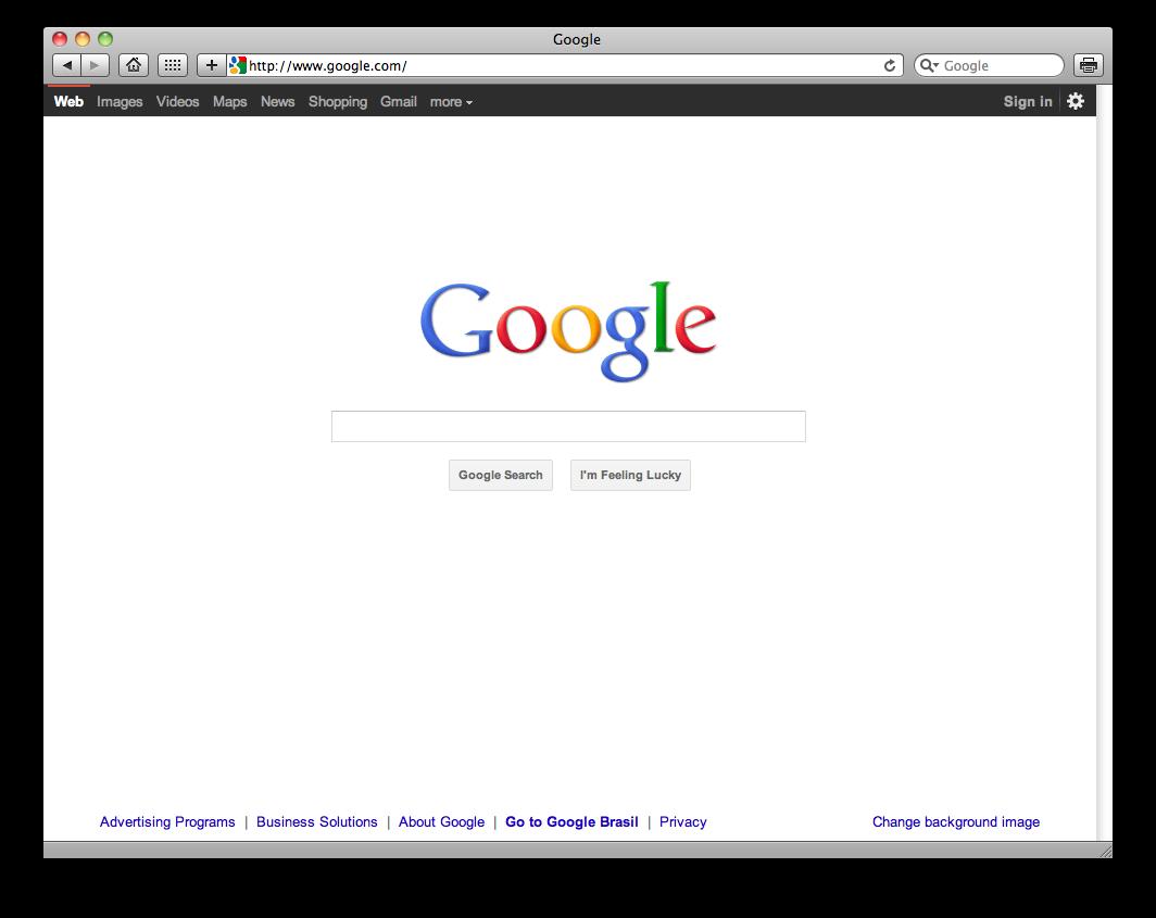 Novo visual do Google.com