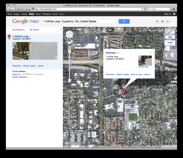 Google Maps com visual novo