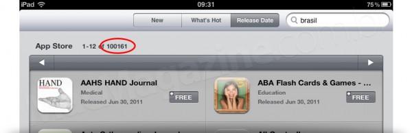 100 mil apps para iPad