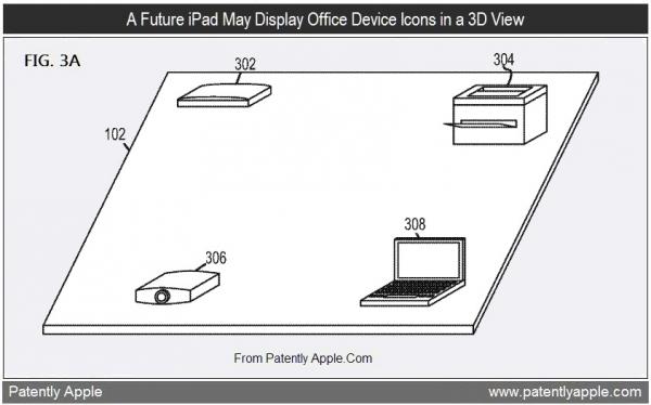 Patente de mapa de escritório desenhado por iPad