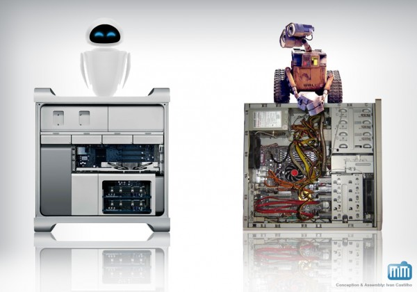Wall-E - Mac Pro (Eve) e PC velho