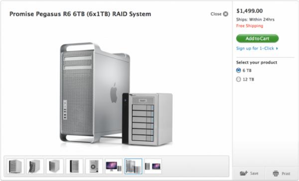 Mac Pro Thunderbolt na Apple Online Store