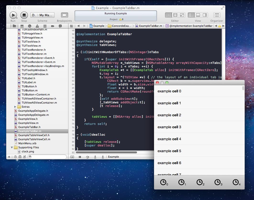 Xcode rodando um projeto do TwUI