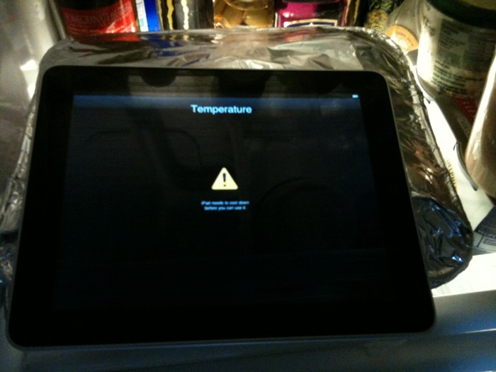 Temperatura do iPad