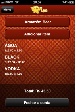 Papo de Bar - iPhone