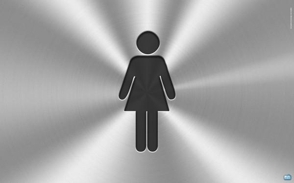 Silhueta de mulher em wallpaper do OS X Lion/iCloud