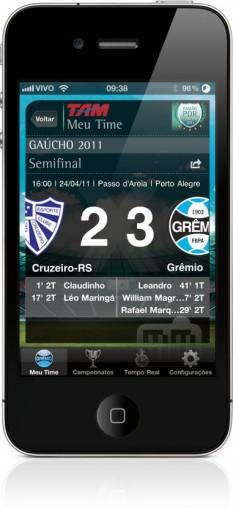 TAM Futebol no iPhone