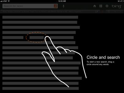 Lasso no Bing para iPad