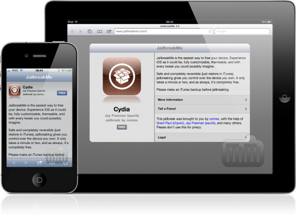 JailbreakMe 3.0 em iPad e iPhone