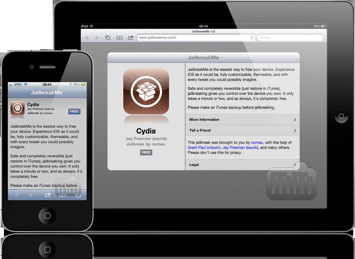 JailbreakMe 3.0 em iPad e iPhone