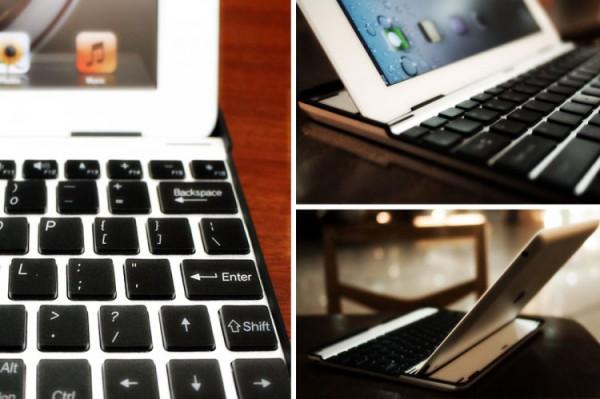 Case com teclado de alumínio para iPad do M.I.C. Gadget