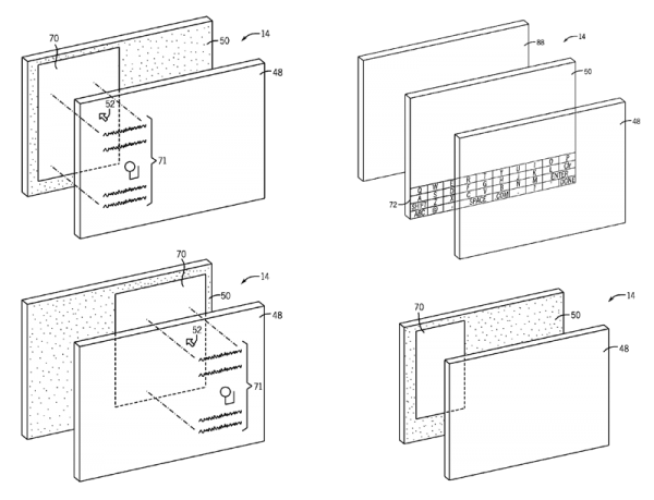 Patente de tela transparente