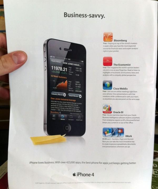 Propaganda do iPhone para negócios