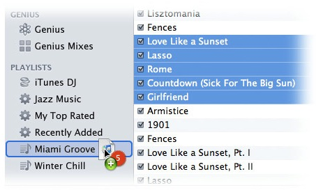 Playlists no iTunes