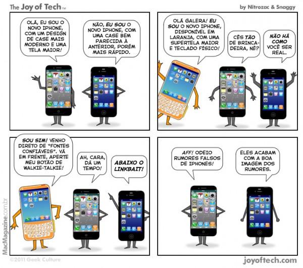 Joy of Tech - Alguns rumores de iPhones nao merecem respeito