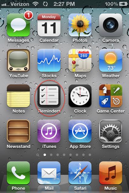 Reminders no iOS 5 beta 3