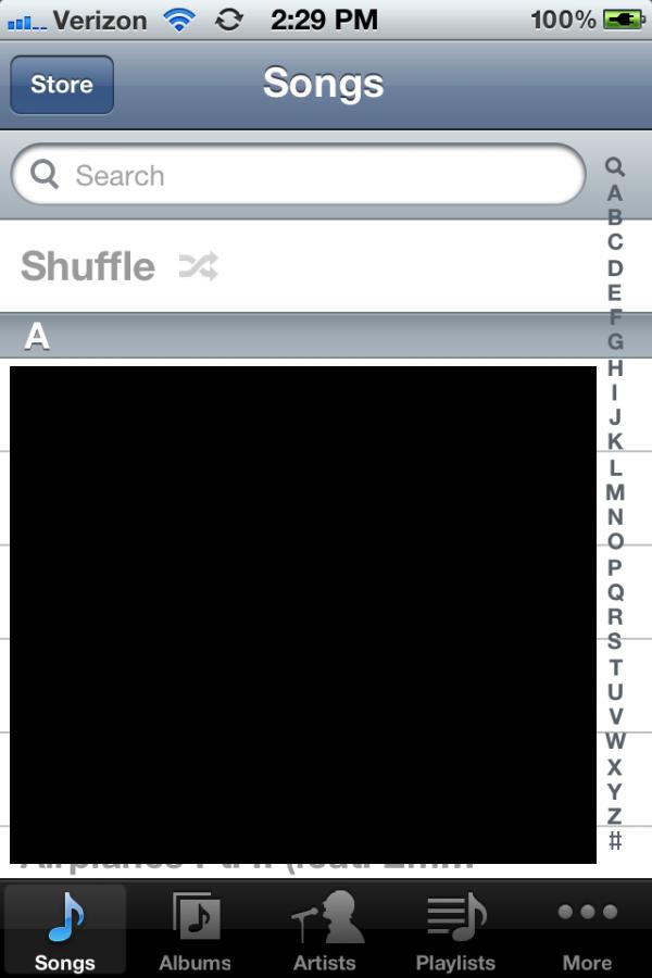 Music no iOS 5 beta 3